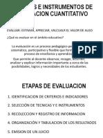 Técnicas e Instrumentos de Evaluacion Cuantitativo