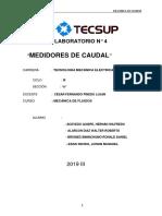 LAB N° 04 MECANICA DE FLUIDOS