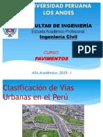 01. PAV - SEMANA 02 - Clasificación de Vías Urbanas en El Perú