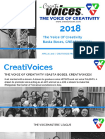 CreatiVoices 2018 PROFILE