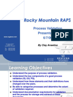Product and Process Validation Training