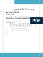 Investigación de Campo y Documental- Proyecto Final