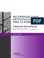 Recomendaciones Metodologicas Naturales 2014