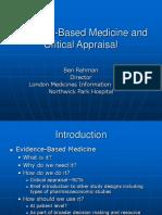 Evidence BasedMedicineandCriticalAppraisal Mycopy