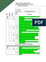Planificación 8° Matemática 2016