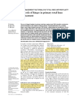 2014 - The Role of Hinges in Primary Total Knee Replacement