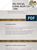 NORMA Oficial Mexicana NOM 110 SSA1 1994