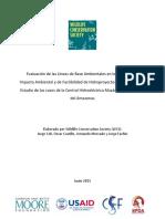 Analisis Lineas Base Hidroproyectos Loreto Peru WCS