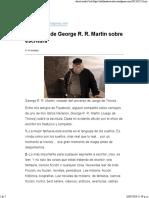 Consejos de George R. R. Martin Sobre Escritura