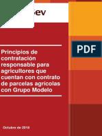 Responsible Sourcing Principles for Farms Gmodelo