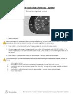 2014 Mercedes Benz Sprinter Service Reminder Reset