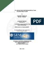 A Study of Labour Welfare Measures at Sa
