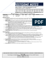 05.27.19 Post-Game Notes