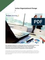 6 Steps to Effective Organizational Change Management