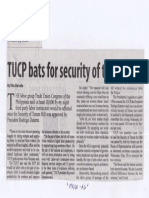 Manila Standard, May 28, 2019, TUCP bats for security of tenure bill.pdf