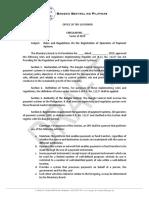 NPSA Draft IRR