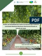 13. Monitoreo Nutrimental Del Tomate Bajo Ambiente Controlado (Juarez)