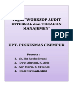 Tugas Workshop Audit Internal Pkm Cisempur