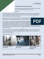 Epoxy Equipment Guide2019