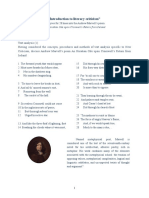 Introduction to Literary Criticism Andrew Marvell s Poem