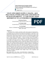 LEAN AND GREEN SUPPLY CHAINS – KEY PRACTICES, INTER LINKAGES AND EFFECTS ON SUSTAINABILITY - A CASE STUDY WITH REFERENCE TO AUTOMOBILE INDUSTRY