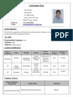 Preeti Kumari Resume