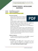 3.- Especificaciones Tecnicas Inst.elect.