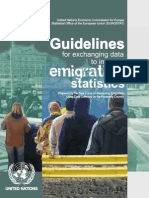 Guidelines for Exchanging Data to Improve Emigration Statistics