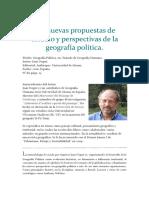 Geografía Política- Reseña