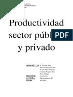 Productividad Sector Público y Privado
