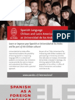 Spanish as a foreign language (ELE) at UANDES