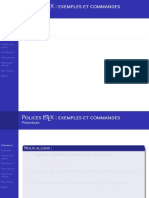 Commandes Polices LaTeX