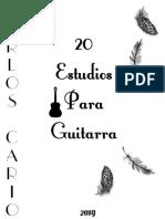 Carlos Cario - 20 Estudios Para Guitarra