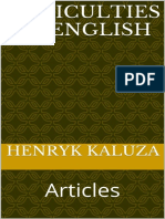 Difficulties of English Articles