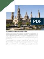 Guía de Zaragoza Para 3 Días