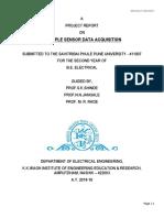 Multiple Sensor Data Acquisition Report