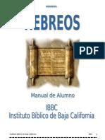 La Epístola a Los Hebreos - Manual de Alumno