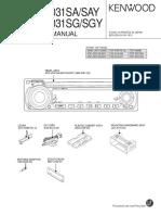 Kenwood KDC 2031 SG Service Manual