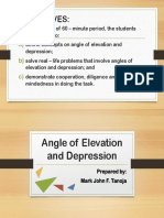 Angle of Elevation and Depression Powerpoint
