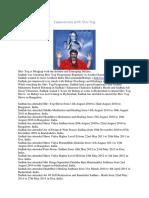 Experiences With Shiv Yog