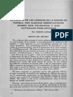 Lombardo, Lenguas de La Sierra de Puebla