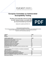 EUCAST Quality Check  Tables