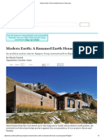 Modern Earth_ a Rammed Earth House in Wyoming