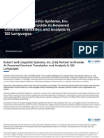 Evisort and Linguistic Systems, Inc. (LSI) Partner to Provide AI-Powered Contract Translation and Analysis in 120 Languages