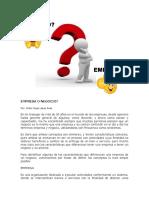 Artículo - Empresa o Negocio