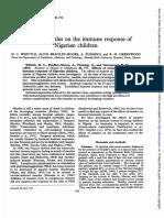 effect of Measles on Immune of Children