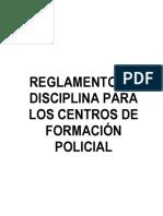 Reglamento de Disciplina Para Los Centros de Formación Policial