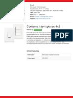 Interruptores 4x2 - 869210