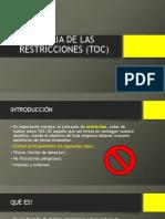 Teoría de Las Restricciones TOC 2019-1