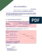 Aplicación de los vectores a problemas métricos